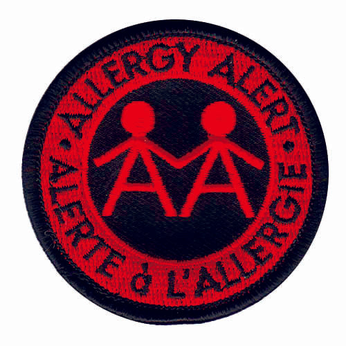 Allergy Alert Embroidered Patch - English & French