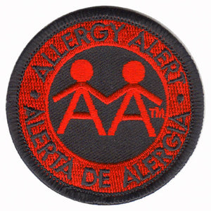 Allergy Alert Embroidered Patch - English & Spanish