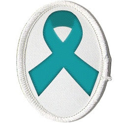 Teal Allergy Awareness Ribbon Patch (Large)