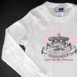 """Don't Feed This Princess"" Long Sleeve Fitted T-Shirt"