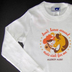 """Don't Horse Around, Nuts Ain't for Me"" Fitted Long Sleeve Tee"