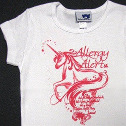 Allergy Alert Unicorn Fitted Tee