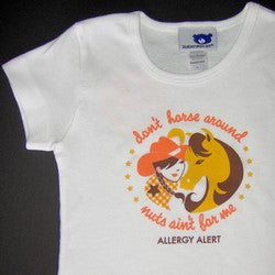 """Don't Horse Around, Nuts Ain't for Me"" Fitted T-Shirt"