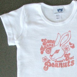 """Some Bunny Doesn't Eat Peanuts"" Fitted T-Shirt"