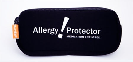 Epinephrine Auto-injector Carrier - 'Allergy Protector' (Black)