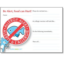 Seafood Alert Playdate Card