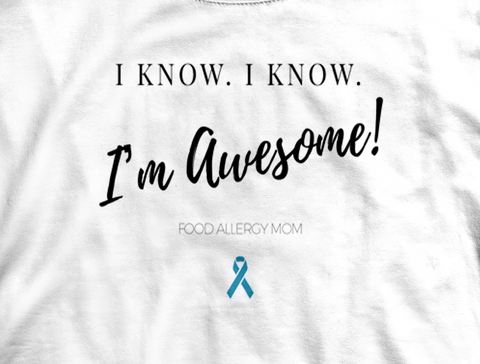 Awesome Food Allergy Mom Tee