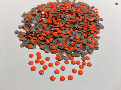 2mm Florescent Orange Rhinestuds