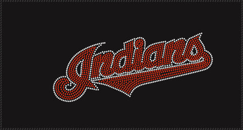 Indians Script Baseball Transfer