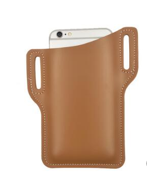 Genuine Leather Belt Clip Holster Case for 6.0 inch Mobile Phone