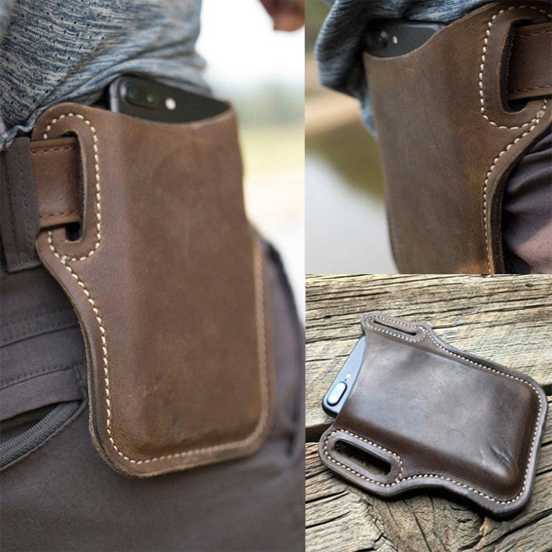 Genuine Leather Belt Clip Holster Case for 6.0 inch Mobile Phone from Swifty Gifts.com