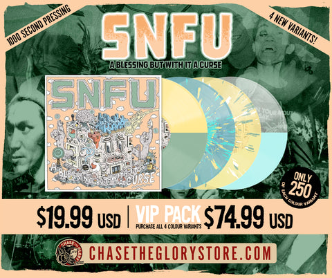 2ND Pressing-SNFU-A Blessing But With It a Curse VINYL LP records