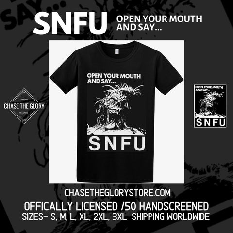 SNFU-Open your mouth and say... Officially licensed T shirt