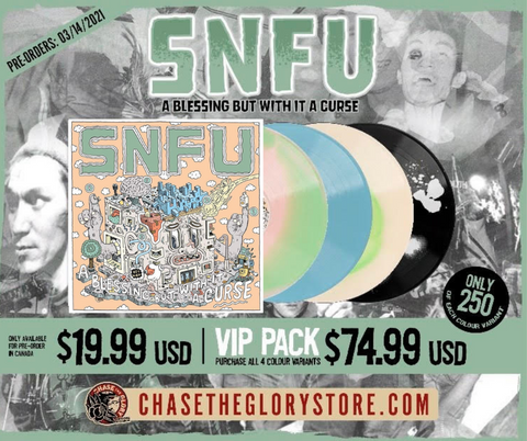 "SNFU-A Blessing But With It A Curse Vinyl EP 12"" Pre Order 06/2021"