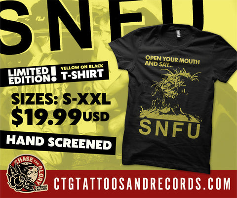 SNFU-Open your Mouth and Say T Shirt