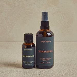 Wood Mood glass bottle duo with marine labels
