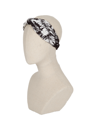Black & White abstract turban