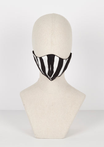 Zebra silk mask