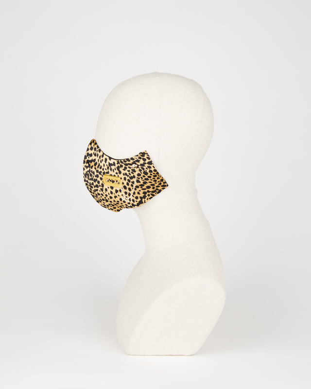 Cheetah accessorized silk mask