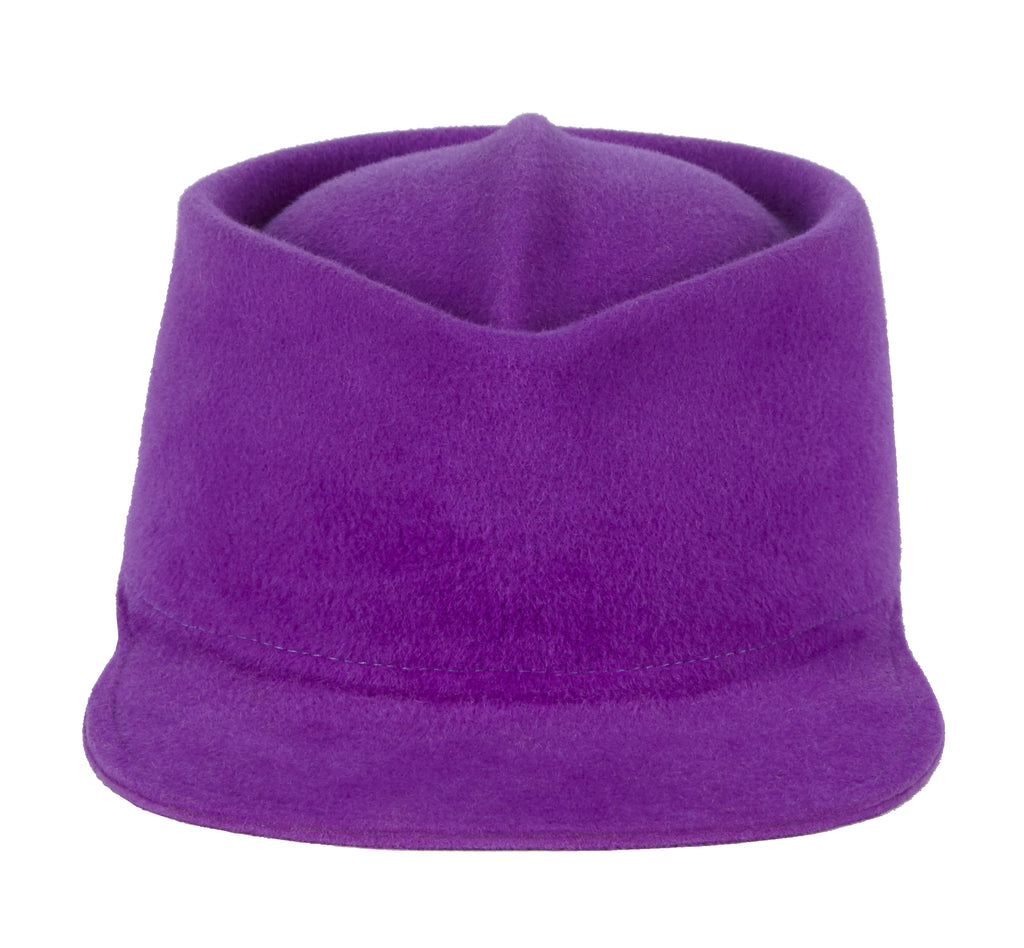 Women and Men's Felt Velour Purple Cap
