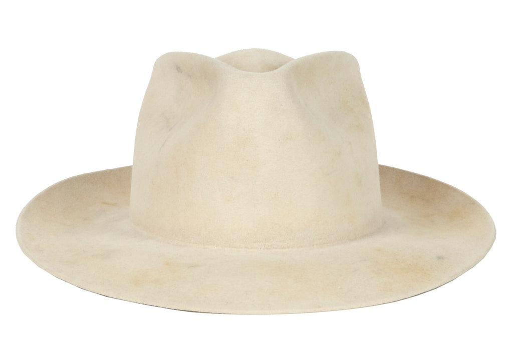 36bff6310c020 Women and Men Western Staple Distressed White Handmade Hat