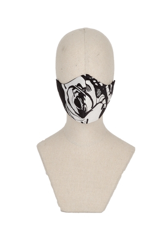 Black & white abstract mask