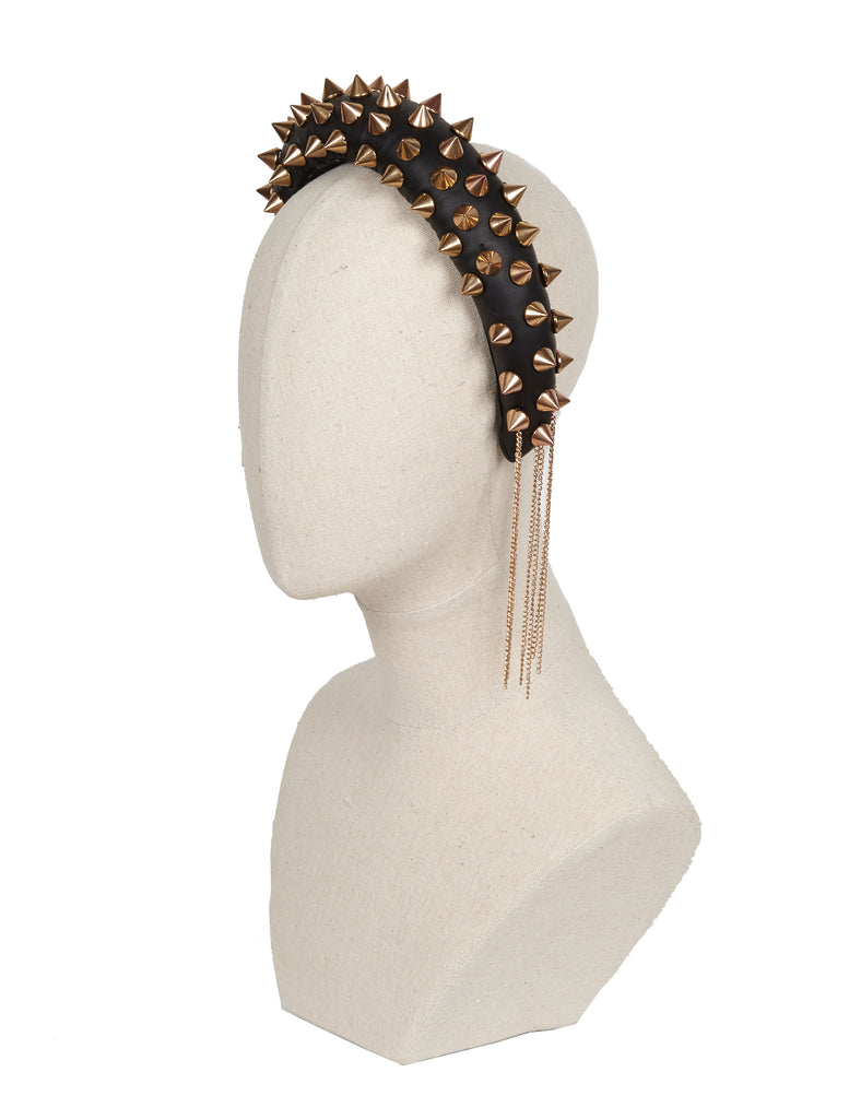Crescent headband w/ chains