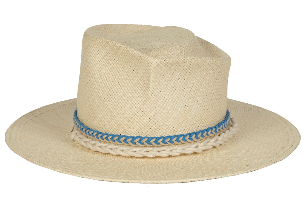 Dali. Women and Men's Handmade Panama Straw Hat With Braided Suede Band And Handmade Rope Band. Gladys Tamez Hat Store.