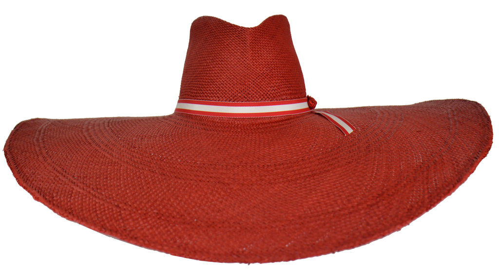 Super wide brim panama straw hat. SS19 Cruise collection. Gladys Tamez  Millinery ecf54707c7f4