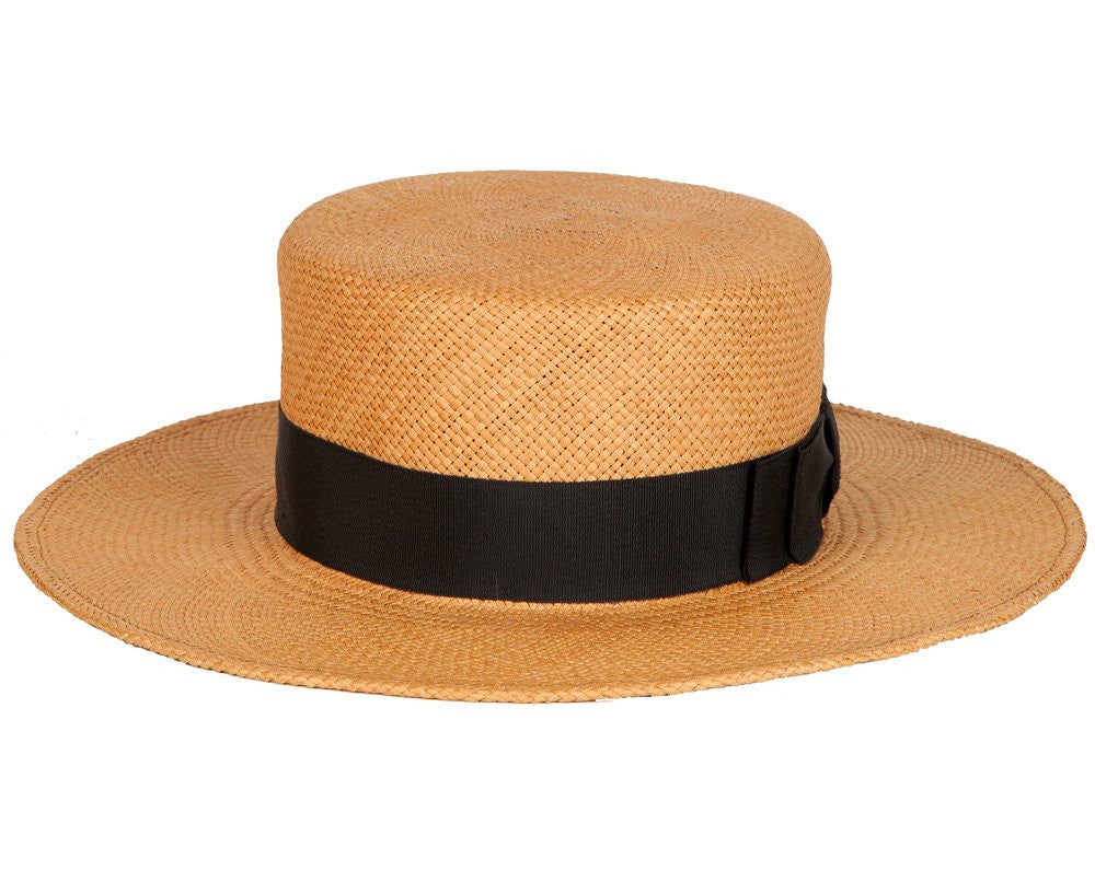Gloria. Women's Handmade Panama Straw Hat's With Black Grosgrain Band.