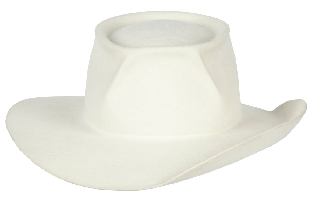 Jones. Women and Men's Handmade Staple Western Hats. White hat. Gladys Tamez Hat Store Los Angeles.