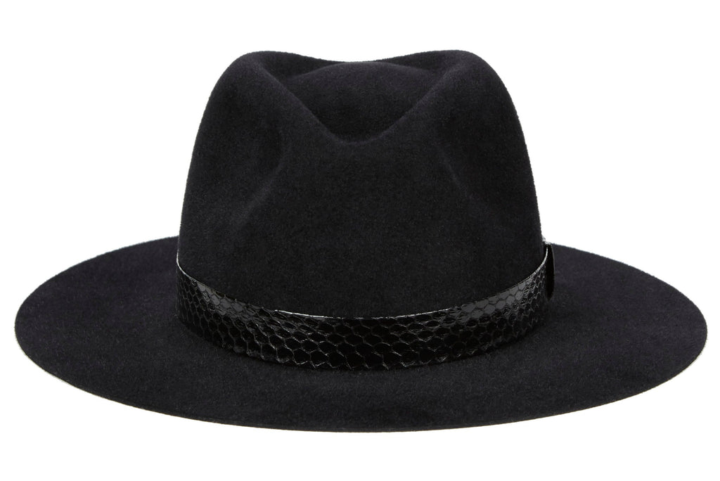 67cc56cc6164f Women and Men s Handmade Felt Velour Black Hats With Grosgrain Band.