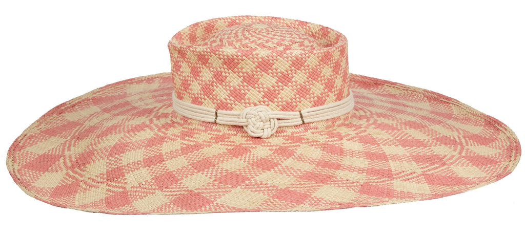 monroe. women panama straw hat with cotton rope band. gladys tamez hat store.