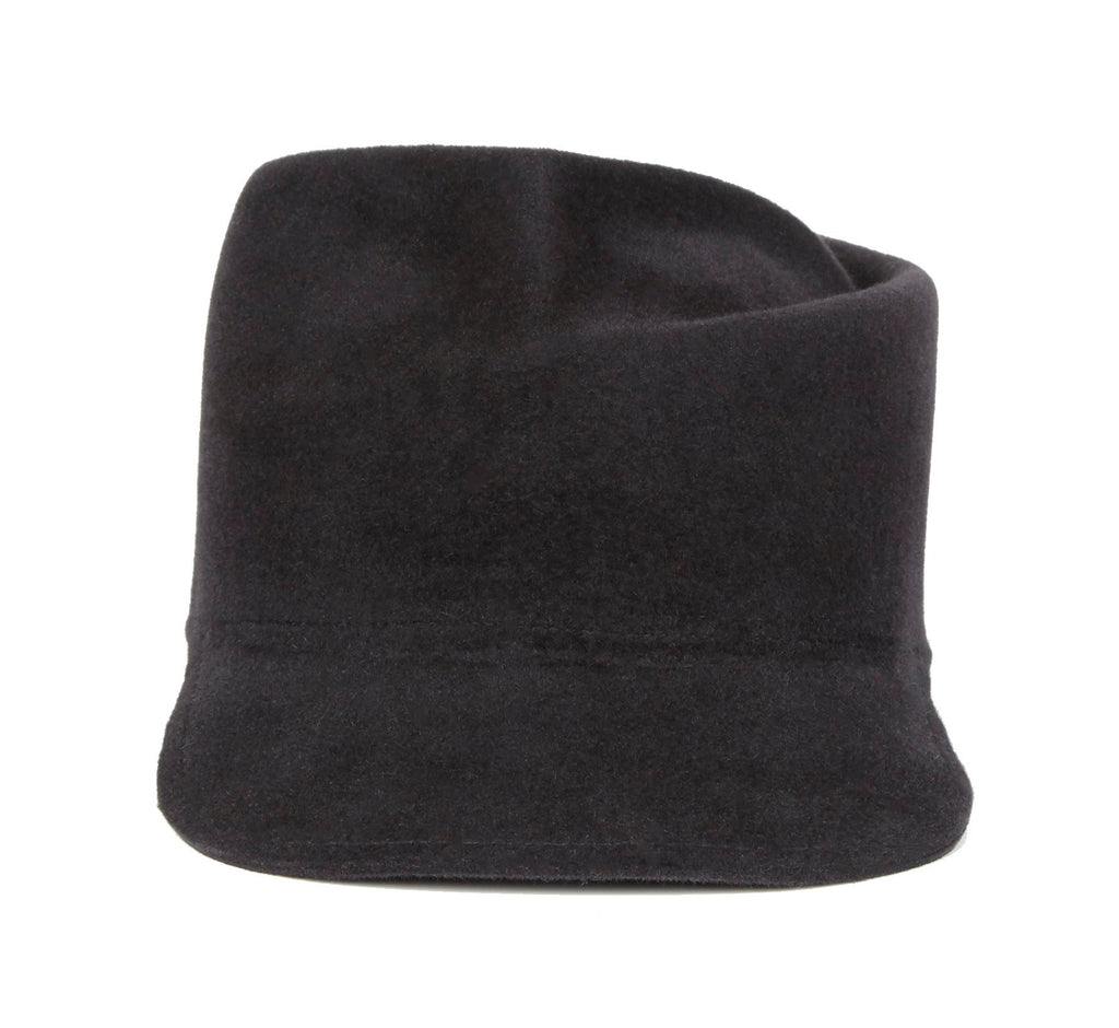 Draco. Women and Men's Handmade Felt Velour Charcoal Caps. Gladys Tamez Hat Store.