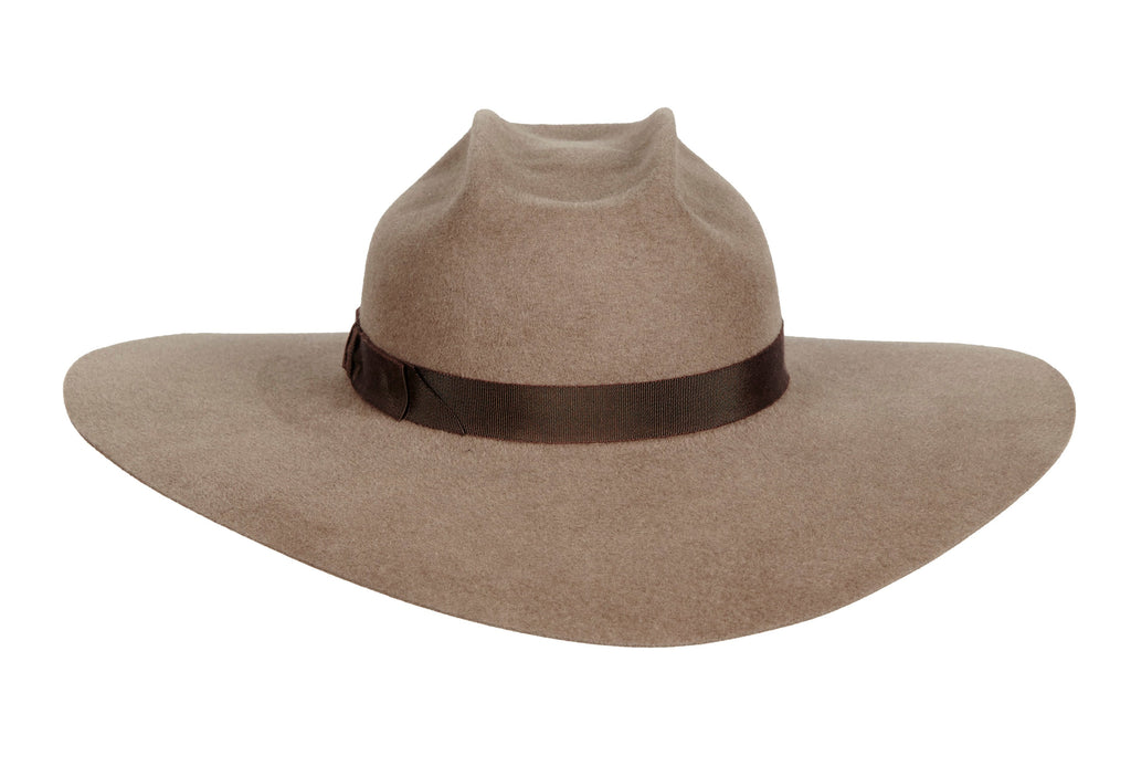 84f48f677c27a Women s Handmade Felt Velour Taupe Hat with grosgrain band. Gladys Tamez Hat  Store