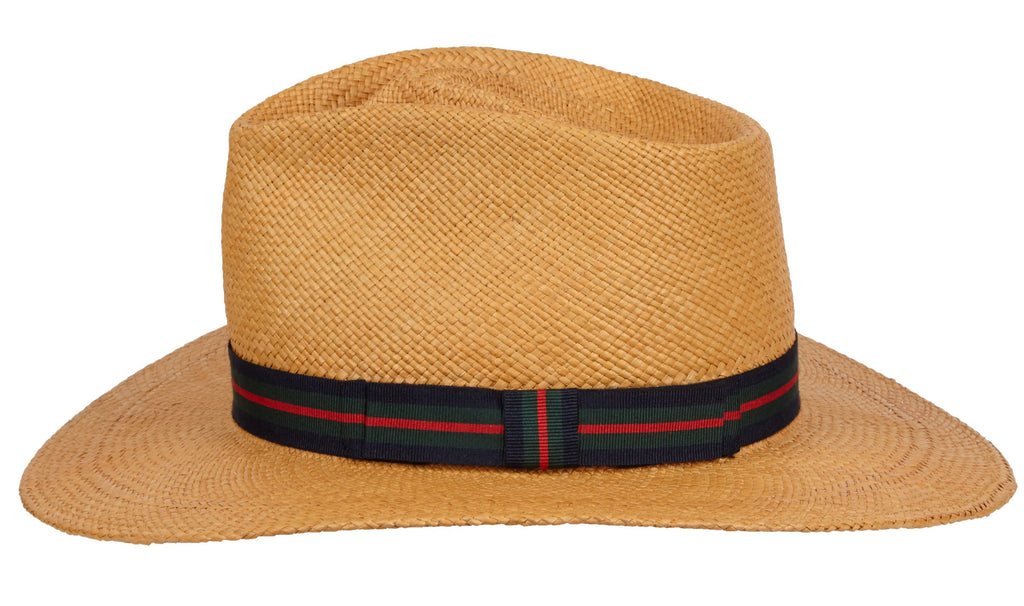 Peck. Women and Men's Handmade Panama Straw Cafe Hat with grosgrain band. Gladys Tamez Hat Store.