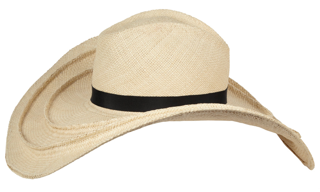Turlington. Handmade Panama Straw Sun Hat with Black Grosgrain Band. Over Size Hat. Gladys Tamez Hat Store