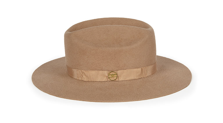 Ryder. Women and Men's Handmade Felt Velour Hat with grosgrain band. Gladys Tamez Hat Store.