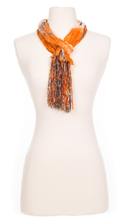 Dirty Tangerine Tie Dye Fabric Scarf