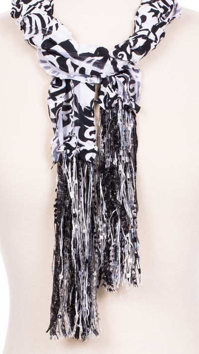 Hypnotic Swirl Fabric Scarf