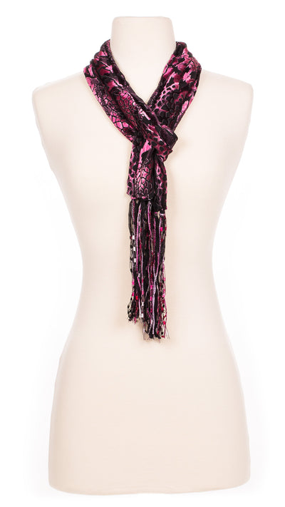 Pink Panther Velour Scarf