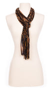 Copper Reflections Velour Scarf