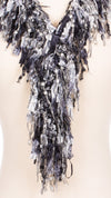Black and White Fringe Scarf