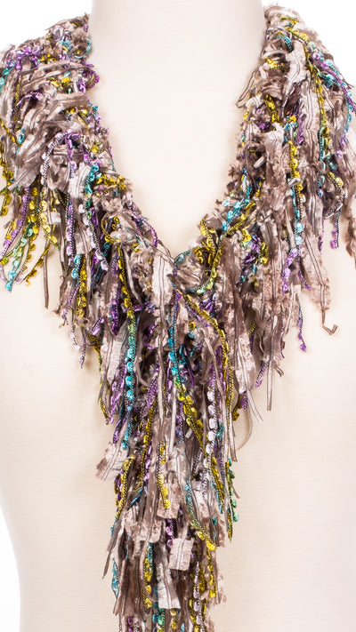 Pewter Blends Fringe Scarf