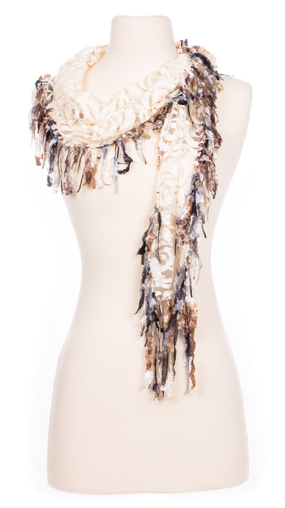 Ivory Lace Shawlette Scarf