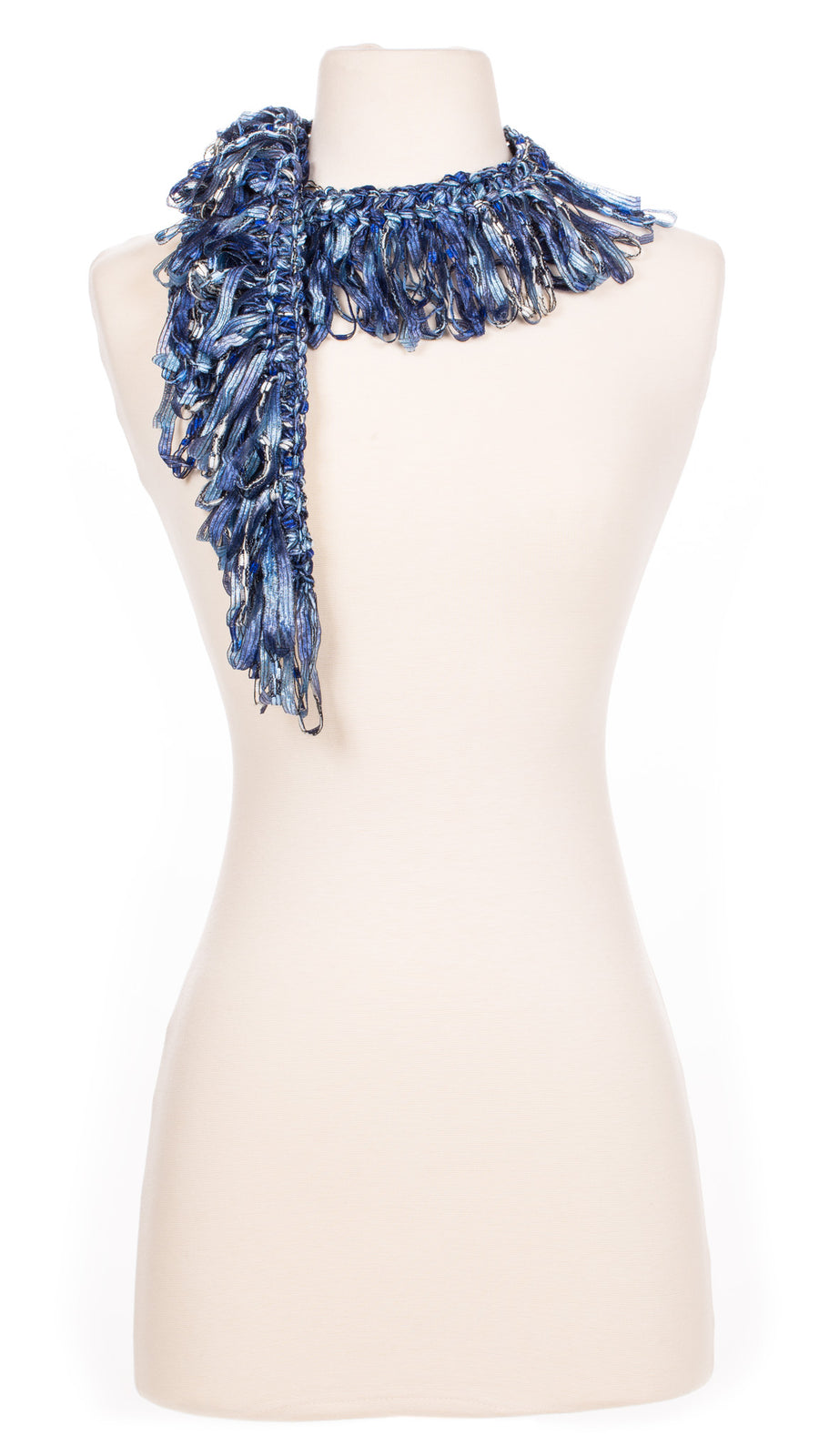 Denim Blues Single Ruffle Scarf