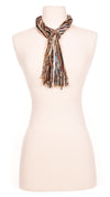 Multi Natural Earth Hues String Scarf