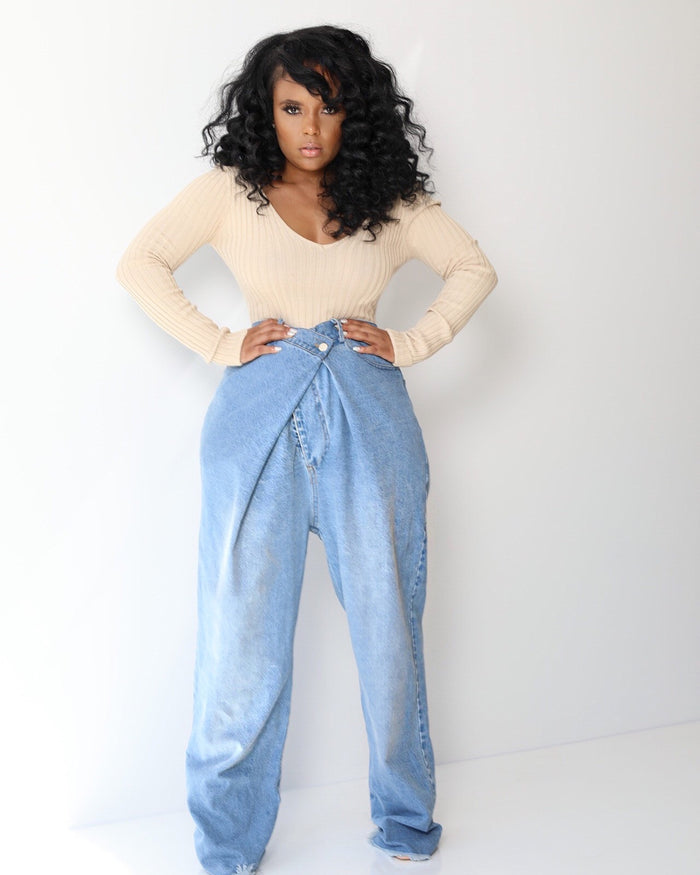 Criss Crosss | High Waist Mom Jeans  PRE ORDER SHIPS 9/25-10/5