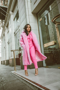 Pinky Plush | Teddy Coat