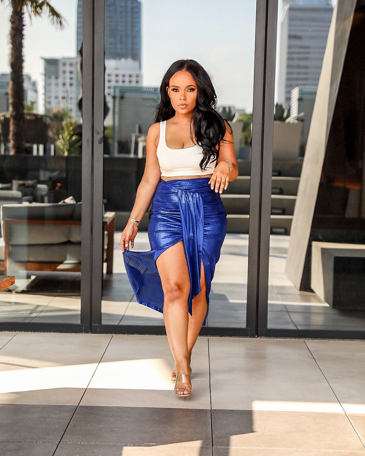Rock the Boat | Metallic Skirt Set